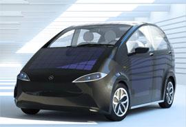 автомобиль на солнечных батареях Сьон