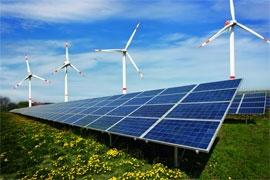 солнечная электростанция_ветровая электростанция