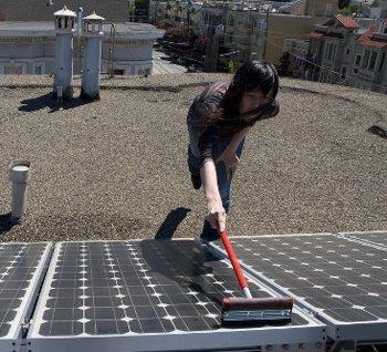 солнечные батареи и их мойка