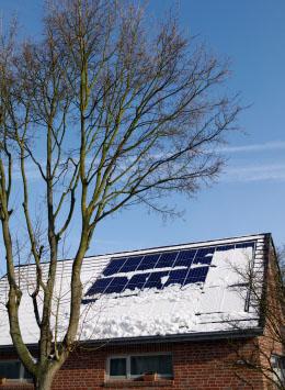 солнечная электростанция зимой