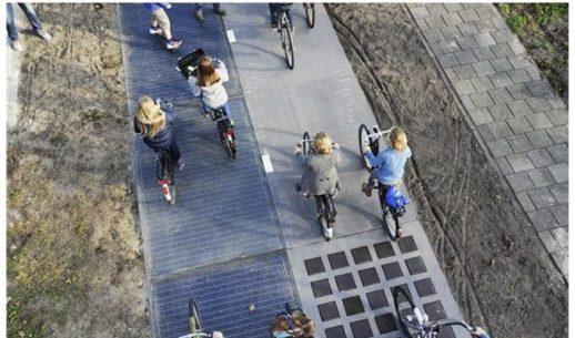 солнечная велодорожка в Голландии