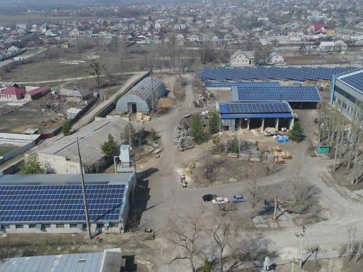 промышленная крышная солнечная электростанция в Украине