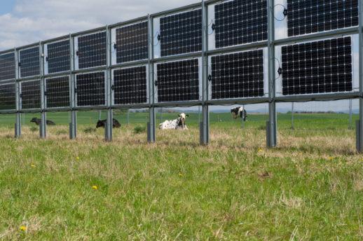 Solaranlage der Firma Ökostrom-Saar am Diensdtag (09.05.2017), bei Losheim am See im Saarland Foto: BeckerBredel