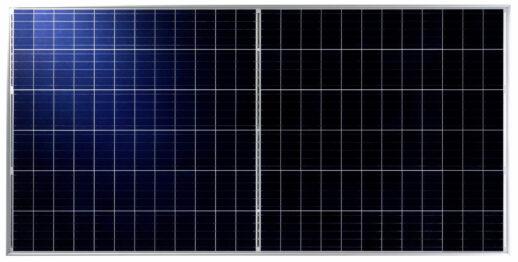 Talesun Solar Technologies präsentiert Module seiner Bistar-Serie mit Halbzellen.