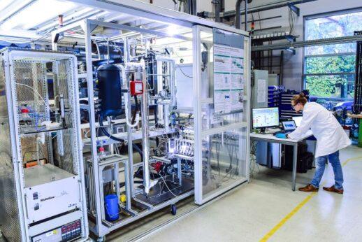 Methanol-Miniplant-Anlage.Fraunhofer