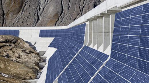 PV Anlage Staudamm Muttsee Schweiz